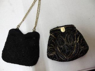 Pair of Beaded Purses