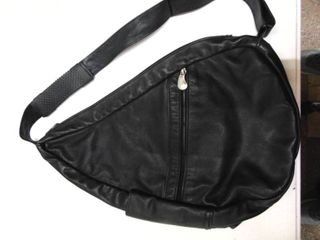 Black leather AmeriBag