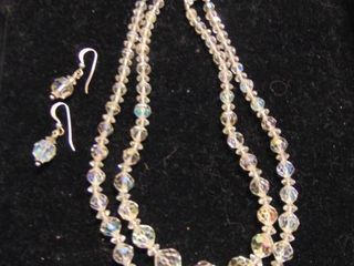 Glass Beads necklace and earrings