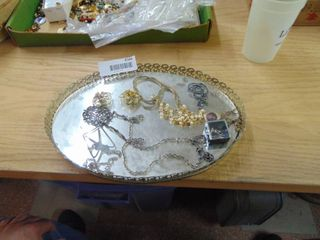 Mirrored Tray and fashion Jewelry