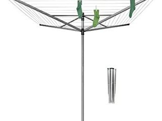 Brabantia lift O Matic Rotary Dryer   Umbrella System Clothes line  Includes the Rotary Spike  78 inches Tall   7 Ft Wide  Square