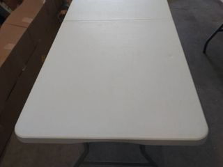 6 Foot Bi Fold Table  Has a Couple of Dents   Please See Photos