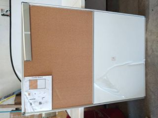 48  x 36  Combination Wall Mount Cork   White Board  Damaged   Please See Photos