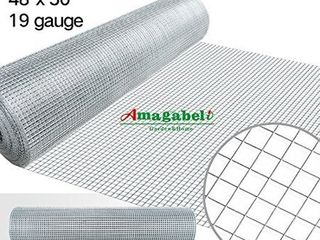 Amagabeli 48 x50 ft   1 2 Inch 19 Gauge Square Galvanized Chicken Wire Fence  Mesh Rabbit Wire Fence  Poultry Netting Cage  Snake Fence