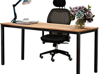 Need 63  Computer Desk   Gaming Desk  Writing Desk with BIFMA Certification Workstation Office Desk   Teak   Black  Model AC3BB 160  Assembly Required