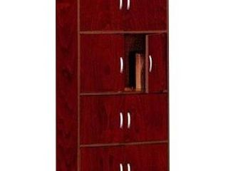 Storage Cabinet Cherry   Hodedah Import   23 6  W x 15 55  D x 54 21  H  Assembly Required