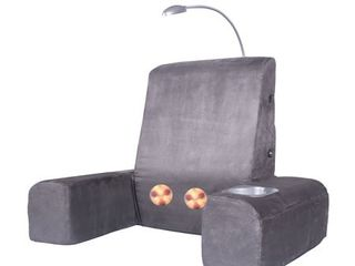 Carepeutic Back Rest Bed lounger with Heated Shiatsu Massage  Plugged in   Powered On