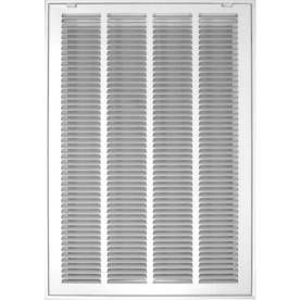 Accord Filter White Steel louvered Sidewall Ceiling Grille  Rough Opening  16 in x 25 in  Actual  18 57 in x 27 57 in