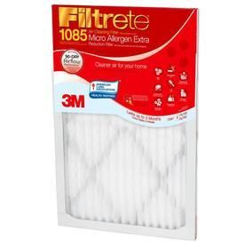 Filtrete Micro Allergen Extra Reduction Electrostatic Pleated Air Filter  Common  12 in x 24 in x 1 in  Actual  11 7 in x 23 7 in x 1 in  Slightly Dented