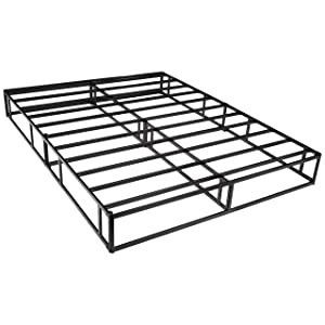 AmazonBasics Mattress Foundation   Smart Box Spring for Queen Size Bed  Tool Free Easy Assembly   9 Inch  Queen