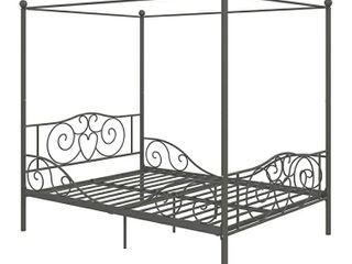 DHP Canopy Metal Bed  Pewter  Full