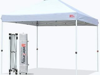 MASTERCANOPY Pop up Canopy Tent Commercial Instant Canopy with Wheeled Bag  10 x10 White