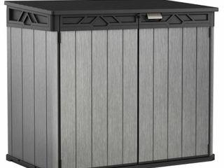 Keter Wheelie Bin Shed Elite Store Grey PP Outdoor Garden Dustbin Cover 237829