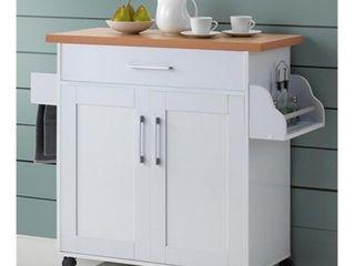 Hodedah Kitchen Island  White