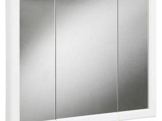 Design House 531434 Concord Tri View Medicine Cabinet Mirror 30  White