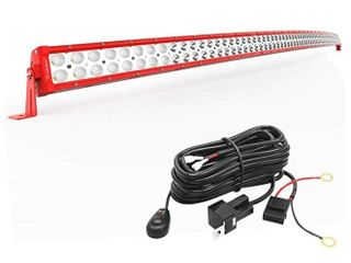 YITAMOTOR lED Red 52 inches Curved Bar 300W light Bar For 4x4 or UTV or IJIJ