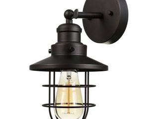 Globe Electric Beaufort 1 light Dark Bronze Wall Sconce  59123  Pair Set of 2