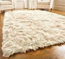 Gorilla Grip Original Premium Faux Fur Area Rug 6 ft x9 ft   Softest  luxurious Shag Carpet Rug for Bedroom  living Room or Bed Side