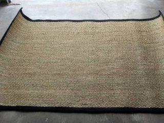 nulOOM Elijah Seagrass w Black Border   5 ft  x 8 ft    Area Rug  Style   BHSG01C
