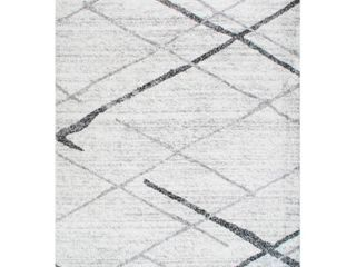 NulOOM Contemporary Gray Stripes 3 ft  x 5 ft  Area Rug  Model  BDSM04A