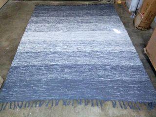 Chesapeake Cotton Ombre Blue Area Rug  7 3  x 9 3