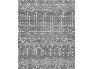 nulOOM Moroccan Blythe Area Rug  3  x 5  Dark Grey