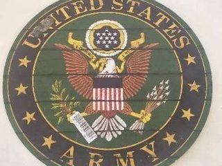 20in United States Army Crest Wooden Wall Decoration