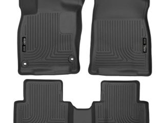 Husky liners  98461 Black  Weatherbeater Front   2nd Seat Floor liners Fits 2016 2019 Honda Civic Coupe Sedan   2017 2019 Civic Hatchback