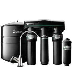 A O  Smith Clean Water Filter with RO Boost Brushed Nickel Faucet  Boxes inside are factory Sealed opened one for Pictures