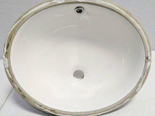 Oval Undermount Wash Basin  Measurements in Photos