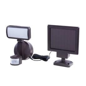 Utilitech 110 Degree 1 Head Bronze Solar lED Motion Activated Flood light with Timer