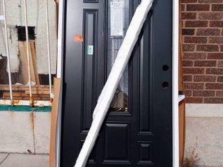 Black Woodedge Steel Entry Door 36x80