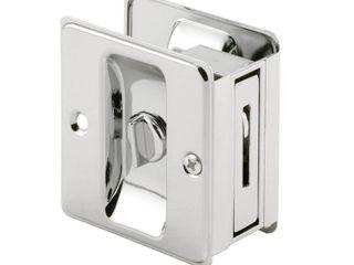 Polished Chrome  Pocket Door Privacy lock