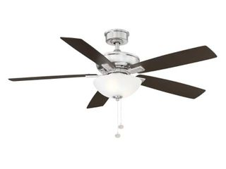 Hampton Bay Blakeford 54 in lED Brushed Nickel DC Motor Ceiling Fan with light