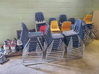 large lot of Stacking Class Room Chairs