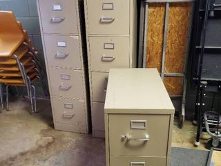 lot of 3 Filing Cabinets