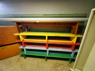 lot of 10 Wooden Benches