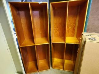 lot of 2 large Wooden Cabinets