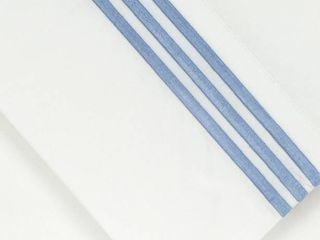 Pointehaven 300 Thread Count Egyptian Cotton Embroidered Pillowcase  King  Blue