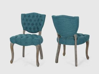 Crosswind Fabric Dining Chair by Christopher Knight Home  Retail 268 49 set of 2