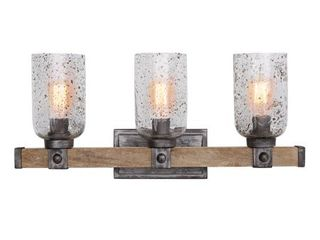 Nolan 3 light Urban Wash Handcrafted Bath Vanity Fixture  Retail 250 00