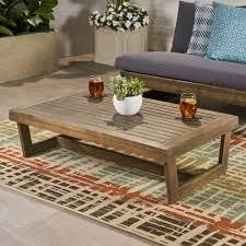 Sherwood Outdoor Acacia Wood Coffee Table by Christopher Knight Home  Retail 139 99 gray