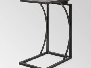 Barrybrooke Modern Industrial C Shaped End Table by Christopher Knight Home   12 00  W x 18 00  D x 25 25  H