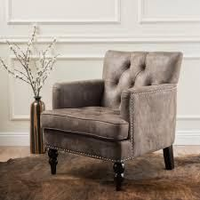 Malone Microfiber Club Chair by Christopher Knight Home  Retail 258 49 greyish brown