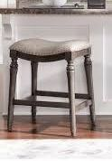 Copper Grove Barmstedt Grey Counter Stool with Saddle Seat   Retail 101 99 grey