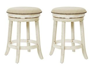 OSP Home Furnishings Metro 26 inch Backless Swivel Stools  2 Pack  Retail 161 99