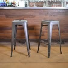 Carbon loft Tolliver Gunmetal 30 inch Metal Bar Stool  Set of 2  Retail 96 49