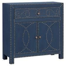 The Curated Nomad Belize Navy Double door Storage Cabinet  Retail 247 04