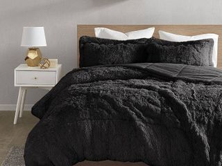 Intelligent Design leena Shaggy Faux Fur Comforter Set  Retail 89 99