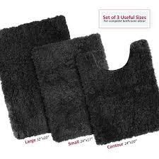 Non Slip Memory Foam Bath Rug   3 Pack Set   Small  large  Contour rug
